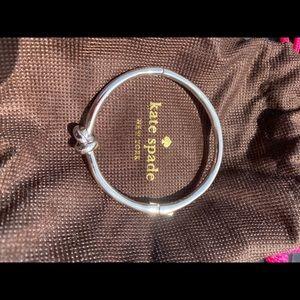 Kate spade silver knot bracelet